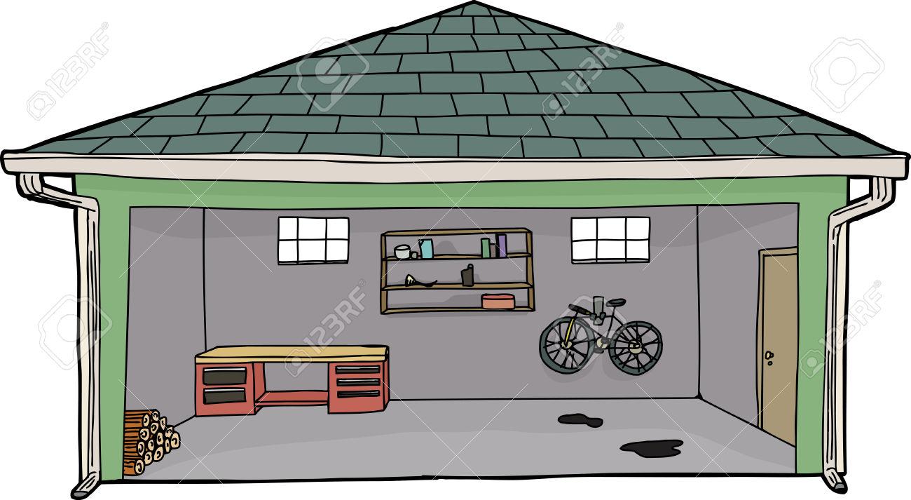 Cartoon garage inside the image kid has it for Garajes por dentro