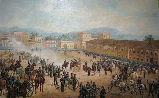 """""""Proclamação da República"""" de Benedito Calixto - 1893"""