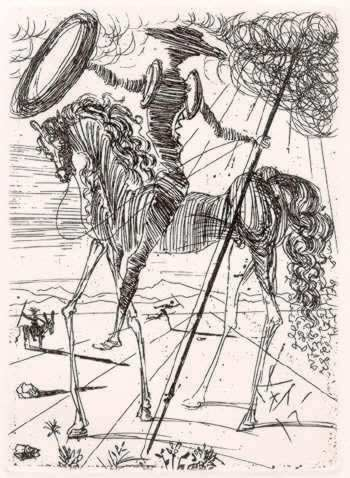 SalvadorDali-Don_Quixote1971