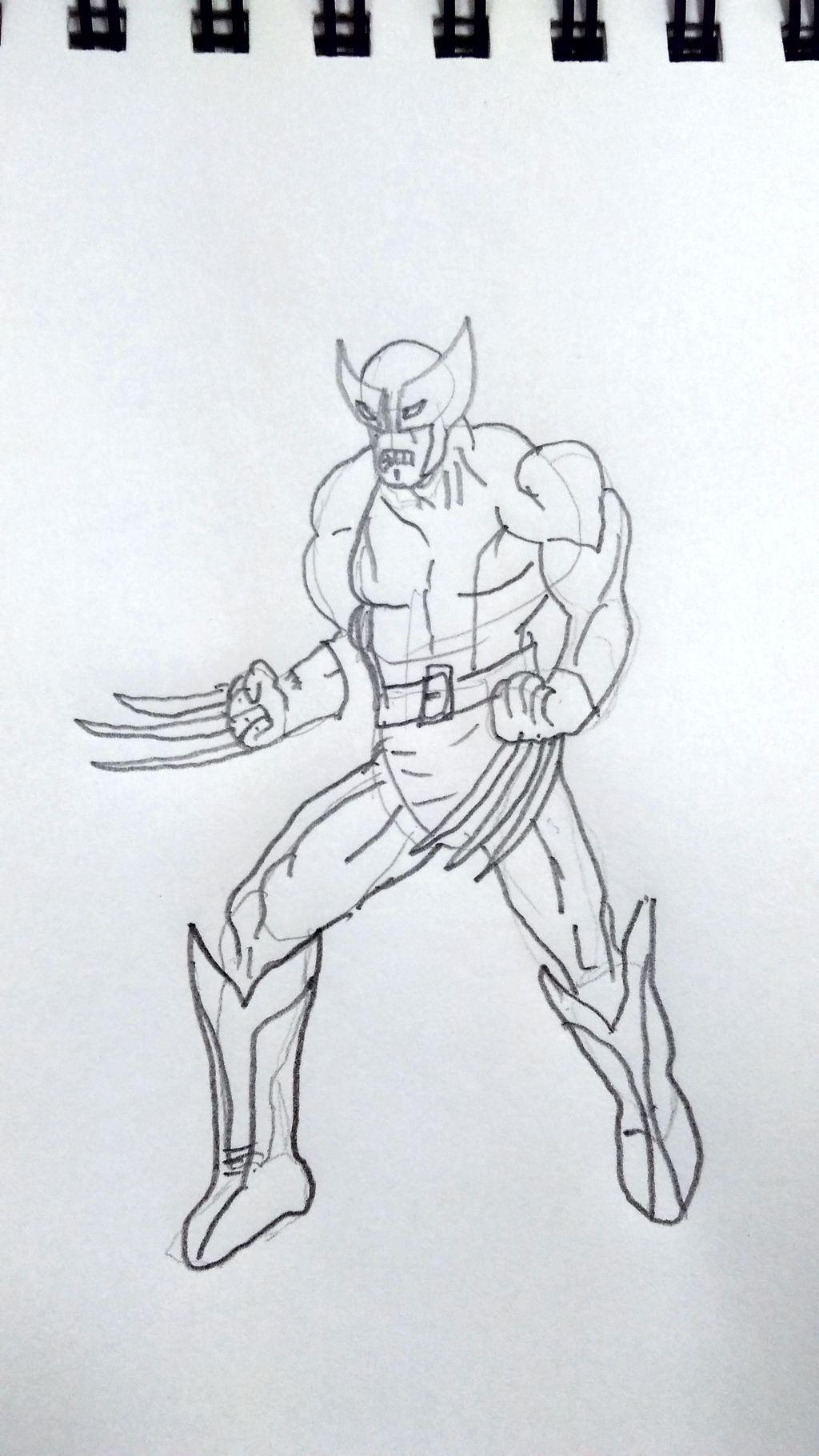 Wolverine como desenhar