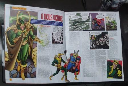 Página interna na revista
