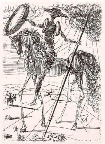 SalvadorDali-Don_Quixote1971