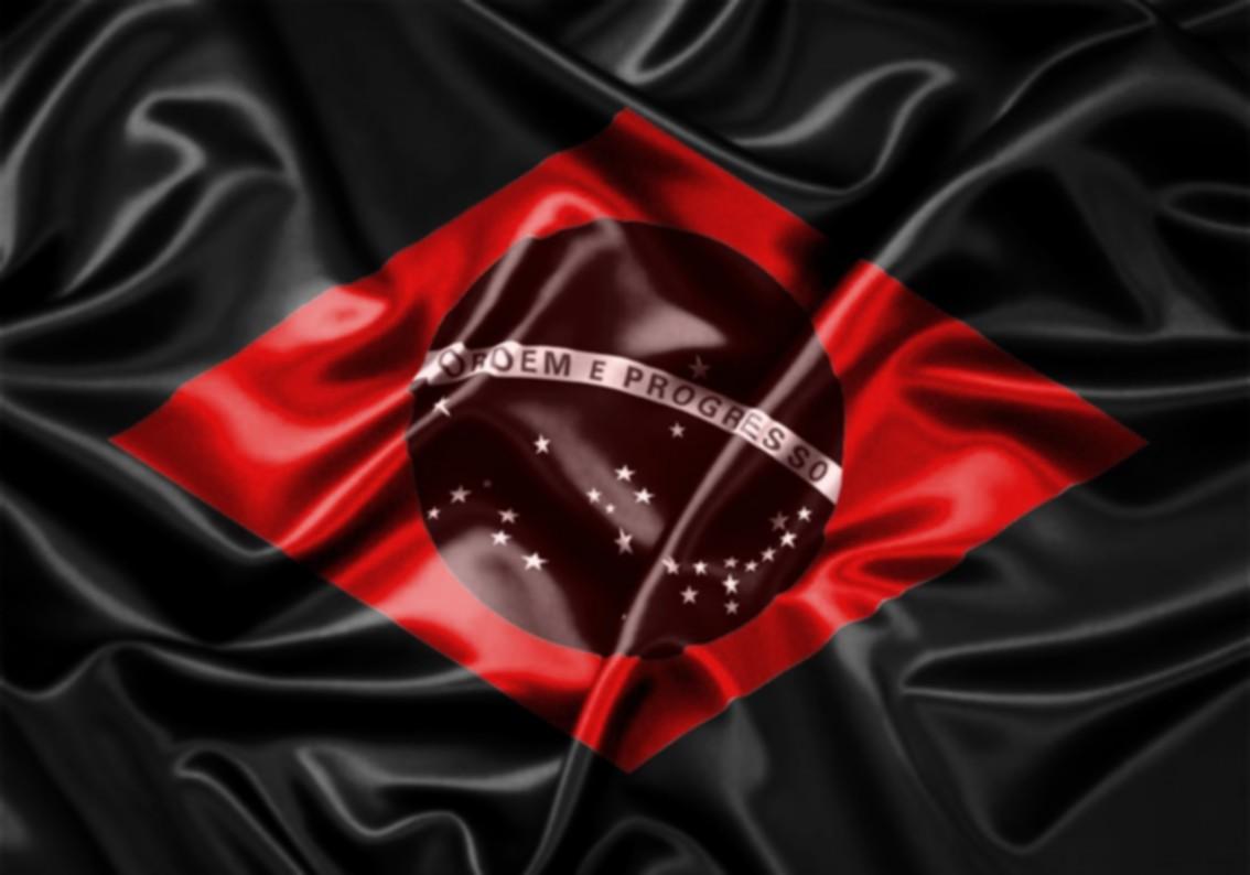 Bandeira do Brasil com Sangue